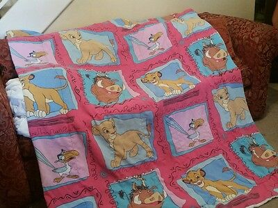 Beautiful Vintage 90's Disney's The Lion King Bed Blanket Comforter Simba Pumba