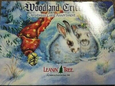 Leanin Tree Christmas Greeting Cards 20 Card Box Set Woodland Critters