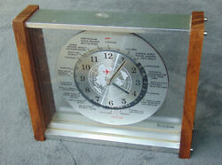 VINTAGE VERICHRON WORLD MANTEL QUARTZ Clock Glass Groovy retro Steam Slot Atomic