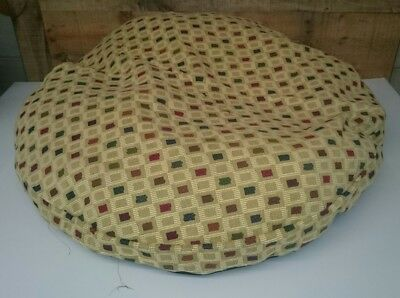 """Ashford Court Patch 36"""" round Dog Bed Cover Only Ohio Beige Multi-Color"""