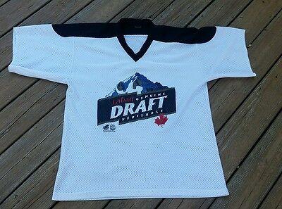 Labatt Genuine Draft Veritable Men's XL White w Black Trim Hockey Jersey Canada