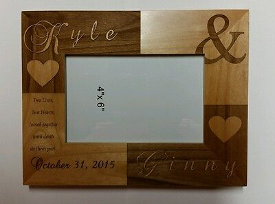 Personalized Laser Engraved 4x6 frame for Wedding  Anniversary Christmas Gift (Christmas Picture Frames 5x7)