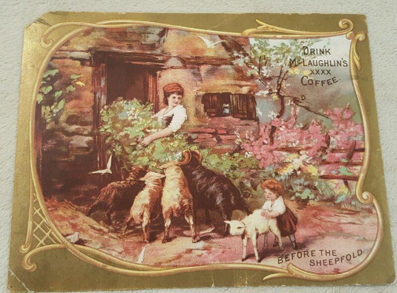 Antique Vintage Victorian Trade Card McLaughlin