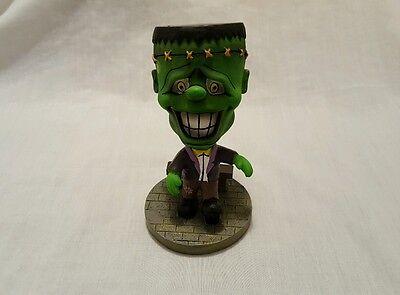 """Rare Halloween Bobblehead Frankenstein Figurine Green Monster 5.5"""""""