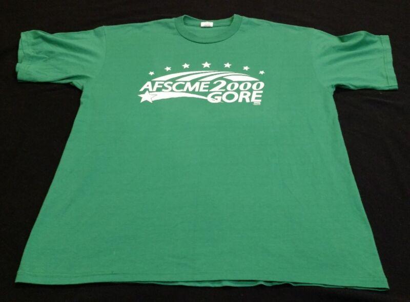 Mens XL Vintage Al Gore Campaign Shirt