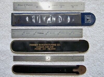 Brown Sharpe Craftsman Mitutoyo 6 Graduated Stainless Steel Machinists Rules