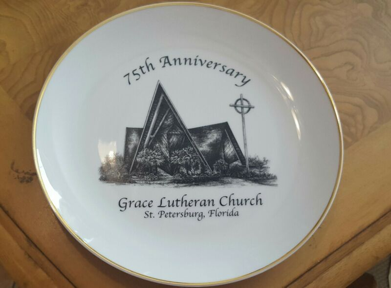 75TH ANNIVERSY PLATE GRACE LUTHEREN CHURCH ST PETERSBURG FL Collector item