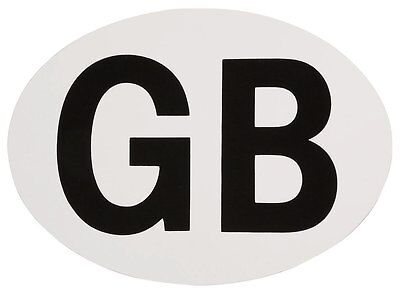 GB Oval Plate Black and White Car Magnet/Magnetic Euro Great Britain Badge