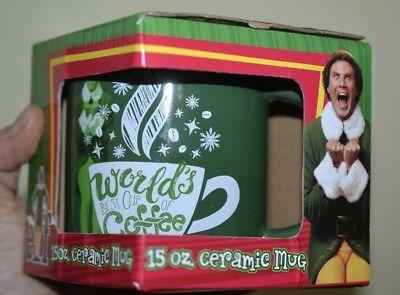 Elf Worlds Best Cup of Coffee Ceramic Mug Officially Licensed 15oz Buddy