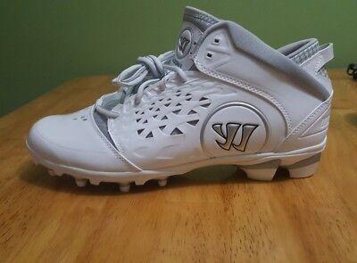 b4af48679 NEW Warrior Adonis Men s Lacrosse Cleats White AdonisWT Size 13