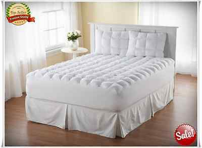 LOFT Full Size Mattress Topper Pillow Top Bed Cover Cotton Pad Thick Bedding (Cotton Full Size Mattress Pad)