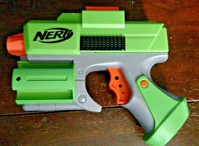 Green Nerf Crossfire Sidearm Pistol Revolver Dart Tag Gun strikefire Blaster Toy