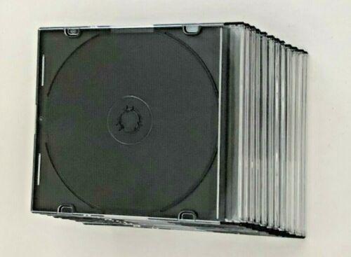 Lot of 12 Empty Hard-Plastic Regular CD / DVD Jewel Cases Trays