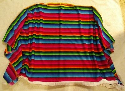 Rubies Adult Colorful Striped Serape Mexican Fiesta PONCHO Costume USA Halloween ()