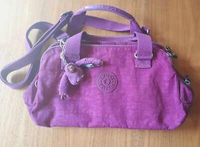 Kipling Purple Medium Bag With Monkey