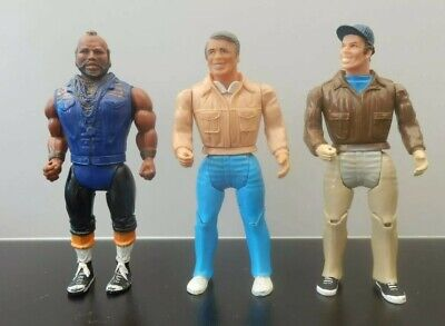 Rare Vintage 1983 The A-Team Galoob   Action Figure Toy lot