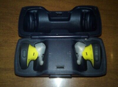 Bose Soundsport Free Bluetooth Wireless In Ear Citron Blue Earbuds Charging Case