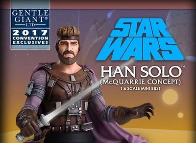 Star Wars Celebration 2017 Gentle Giant McQuarrie Concept HAN SOLO MINI BUST
