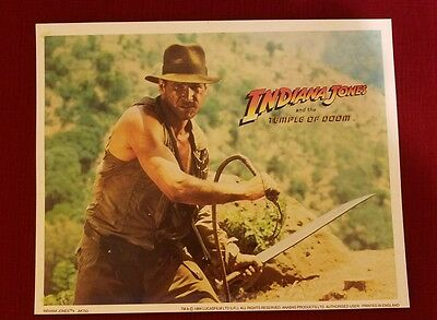 INDIANA JONES and the TEMPLE OF DOOM  lobby card - HARRISON FORD