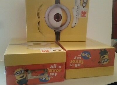 NEW Lot of 3 Minion Photo Box Boxes