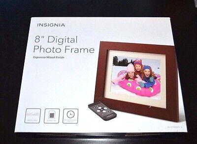 """Insignia - 8"""" Digital Photo Frame - Espresso"""