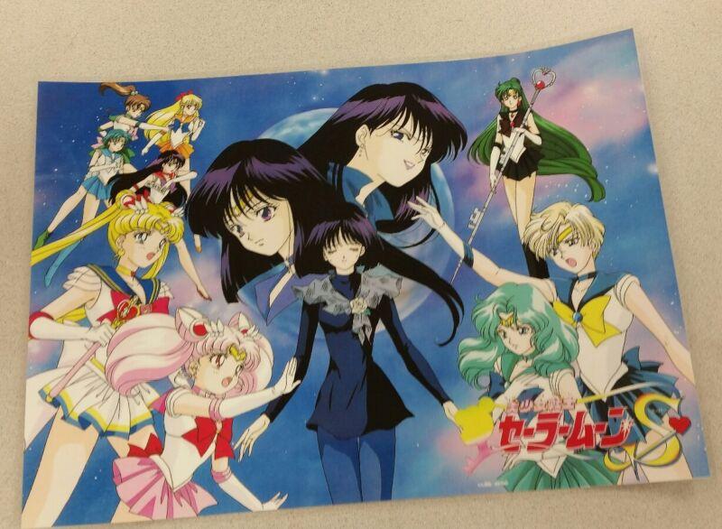 Sailor Moon S group poster 11x16 laminated.