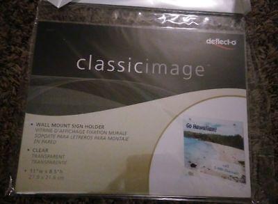 Deflect-o Classic Image Wall Mount Acrylic Sign Holder Clear 68301 8.5x11 Deflect O Wall Mount Sign