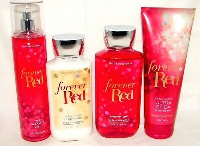 Bath & Body Works Forever Red Body Lotion,Cream, Shower Gel Mist You