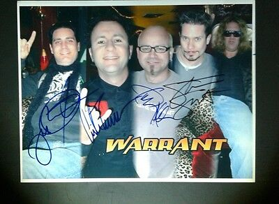 WARRANT- BAND SIGNED 8.5×11 INCH PROMO PIC