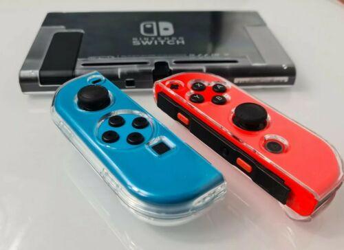Nintendo Switch Schutz Hülle Clear 5 Teile - Cover Slim Case TPU Transparent NEU
