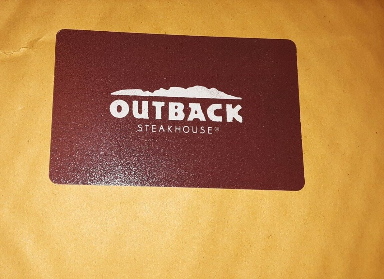 Outback Steakhouse Gift Card 100.00 Value. Free Shipping  - $83.18