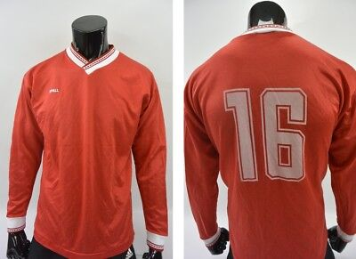 1989 SPALL Retro Football Shirt SCARBOROUGH FC Red LONG SLEEVE SIZE L adults image