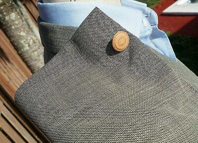 VERSACE Black Nailhead Check Ticket Pocket Mens 56 42L Blazer Sport Coat Jacket