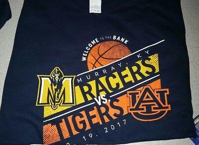 2017 College Basketball Murray State Racers Auburn Tigers XL Shirt MSU SEC NCAA Auburn Tigers College Basketball