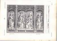 Gothic Lubeck St Catherine Carved Wooden Trytich -  - ebay.co.uk
