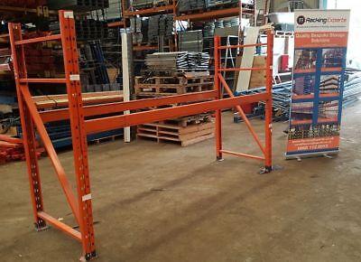 SECONDHAND REDIRACK PALLET RACKING 1 BAY 3m X 900mm X 2.25m (3 Shelf Levels)