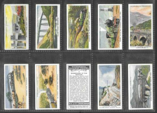 "CHURCHMAN 1937 ( RAILWAY ) FULL 50 CARD SET  """"  WONDERFUL RAILWAY TRAVEL  """""