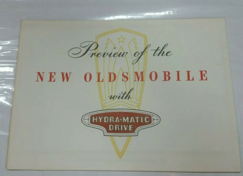 1946 new Oldsmobile with Hydra-matic drive preview   brochure