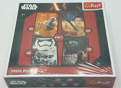 BNIB 'STAR WARS' 4 in 1 TREFL JIGSAW (34263) OVER 200 PIECES. Ages 4+