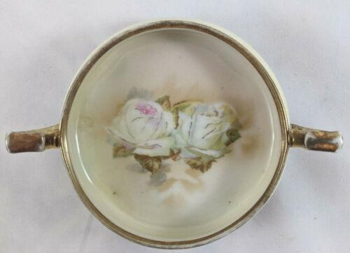 Antique Erdmann Schlegelmilch Suhl Prussia 2 Handled Porcelain Dish