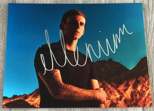 DJ ILLENIUM NICHOLAS MILLER SIGNED AUTOGRAPH 8x10 PHOTO H w/EXACT PROOF