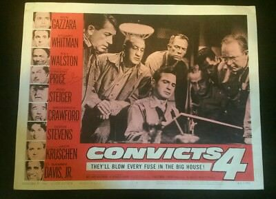 """VERY RARE HAND SIGNED VINTAGE LOBBY CARD 14X11"""" CONVICTS 4"""""""