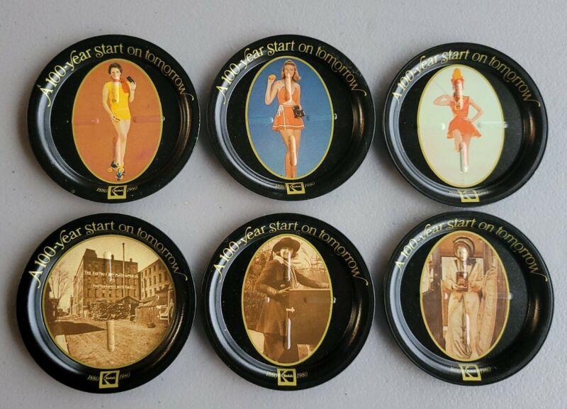 1880-1980 EASTMAN KODAK Set of 6 - 100 Year Start on Tomorrow Coasters