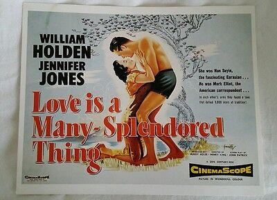 "Love is a Many-Splendored Thing William Holden Jennifer Jones Art Print 10"" x 8"""