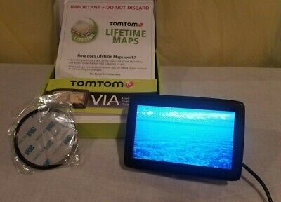 """TomTom 5"""" Touchscreen GPS Nav. w/Lifetime Maps VIA1505M Used ONLY 1 Week GUC"""