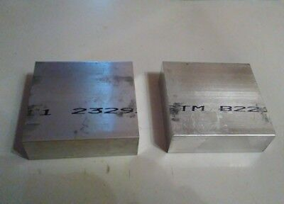 2 Pc 1 X 3 X 3 Long New 6061 Solid Aluminum Plate Flat Bar Stock Mill Block