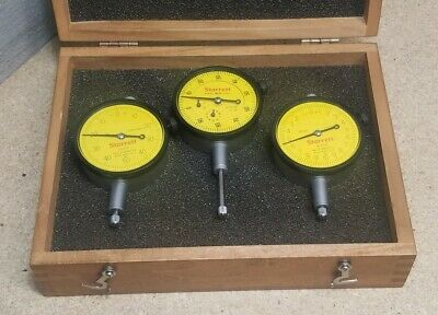 Starrett No. 253 Metric Dial Indicator Set With Beautiful Wooden Case
