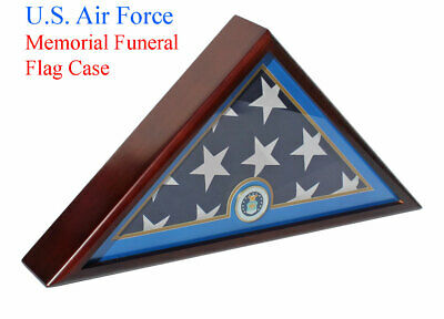 U.S.A Air Force Flag Display Case Box, 5x9 Burial - Funeral -Veteran Flag Case](Flag Display Box)