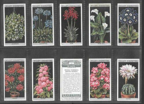 "WILLS 1925 WONDERFUL ( FLOWERS ) FULL 50 CARD SET """"  FLOWER CULTURE IN POTS  """""