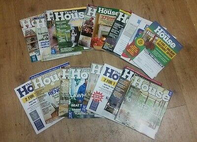 This Old House Assorted 2004 2008  Lot Of  18  Box  29